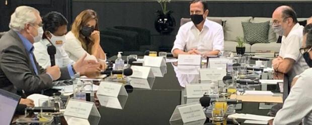 Centrais Sindicais se reúnem com João Dória e defendem vacina e apoio aos trabalhadores paulistas